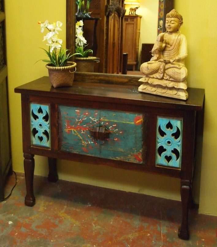 Delicieux Old Painted Door Console Cabinet At GadoGado.com. Indonesian / Bali  Furniture