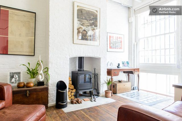 Like The Wood Burning Stove In A Simple Fireplace Alcove