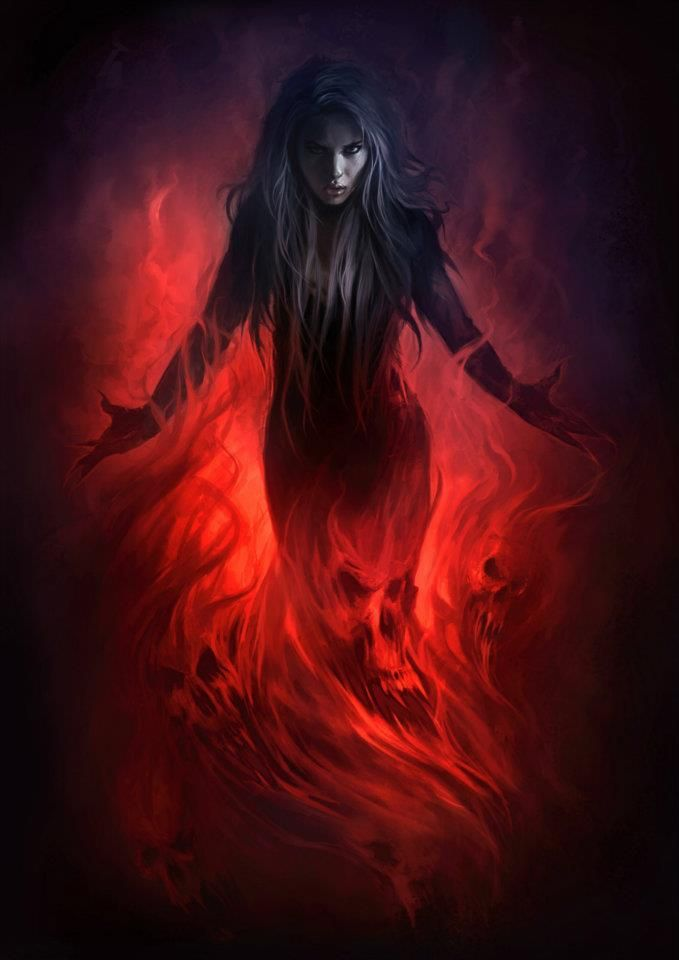 When Kris gets angry, she can't control her fire. She bursts into dark red flames, and it usually takes someone she loves dearly to calm her down.