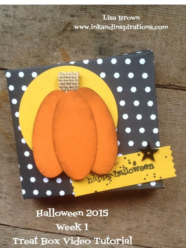 12 weeks halloween 2015 week 1 stampin up treat box - Stampin Up Halloween Ideas