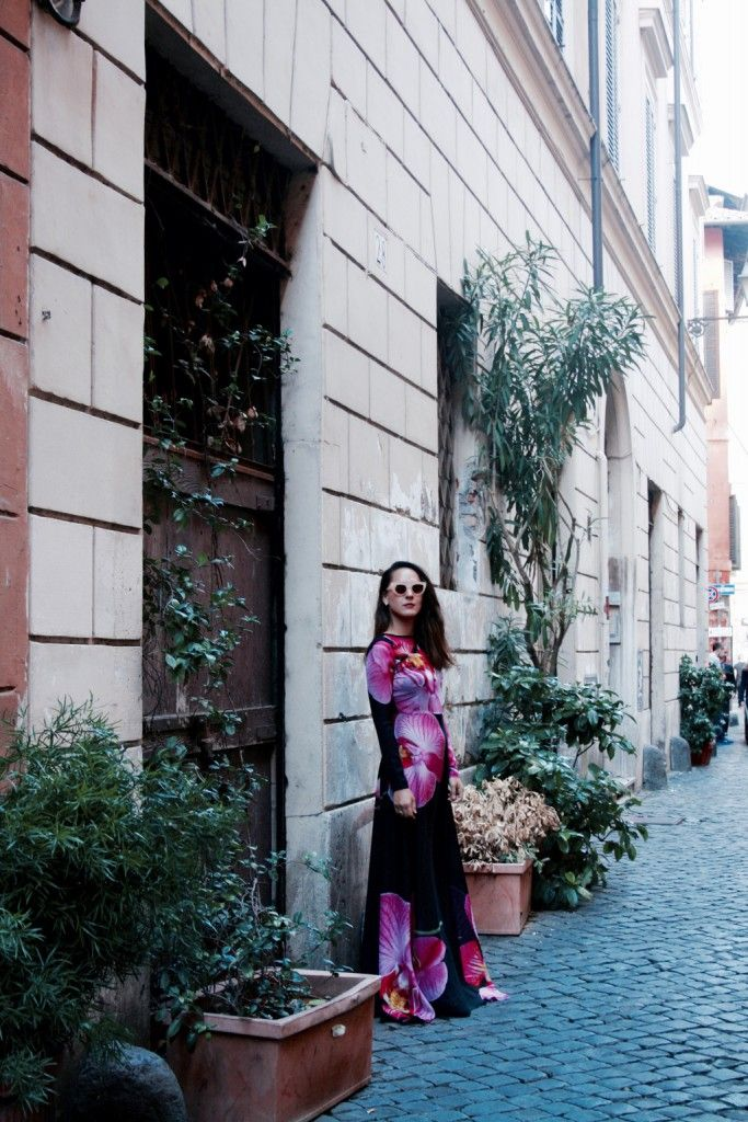 The Orchid dress in Rome <3