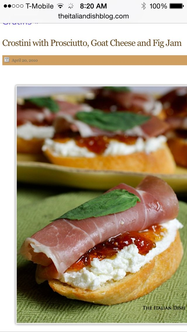 Goat Cheese, Proscuitto, and Fig Spread