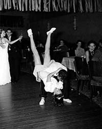 George Caddy and partner Pearl Scott surprised patrons at the Trocadero with a hot jitterbug movement called 'side throw with splits'.    Despite its popularity with the younger generation, not everyone was impressed with the new dance craze. 1941