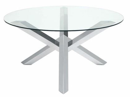 """Nuevo Costa Glass 59.25"""""""" Dining Table in Clear"""