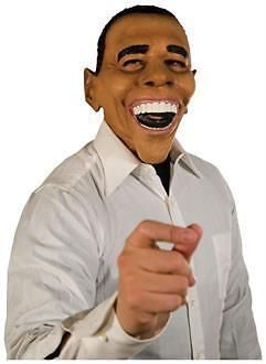 Men's Obama Mask - Standard for Halloween: The President Himself! Traditional Large Grin, Full Over The Head Latex Mask. #coupons #discounts
