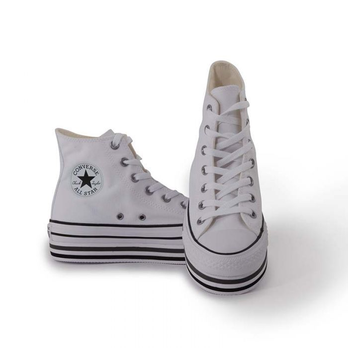 converse all star high bianche donna