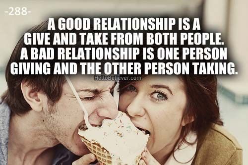lbck give and take in a relationship