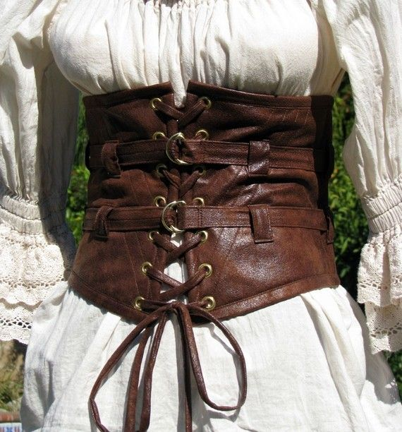 Chemise and corset ~ To post this under Steampunk or Anachronistic? Hmm... buckles say Steam :-P