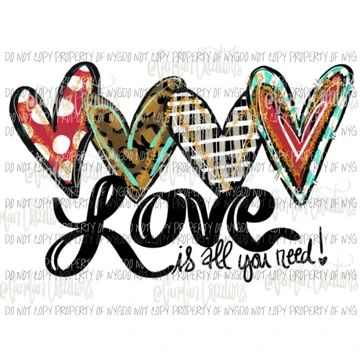 Download love is all you need # 4 Sublimation transfers   Valentine ...