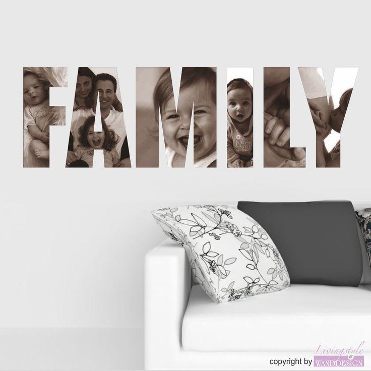 Wandtattoo Family mit Ihren eigenen Fotos