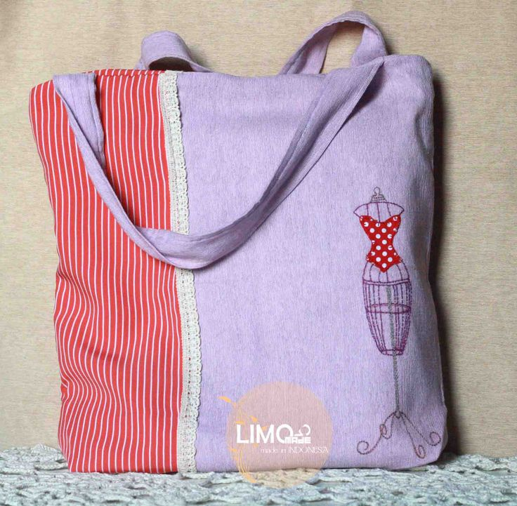 Peach | 85K | bahan: kain tenun ikat ATBM [alat tenun bukan mesin], renda | check this limo-made.blogspot.com #handmade #totebag #limitededition #semarang #indonesia #limomade