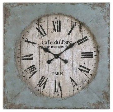 Lovely Uttermost Paron Square Wall Clock transitional clocks