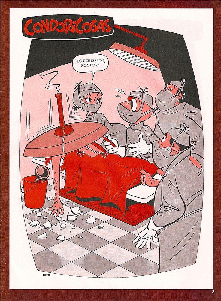 Gracias por avisar enfermera. Plop! Condorito. Chilean cartoon. Pepo.
