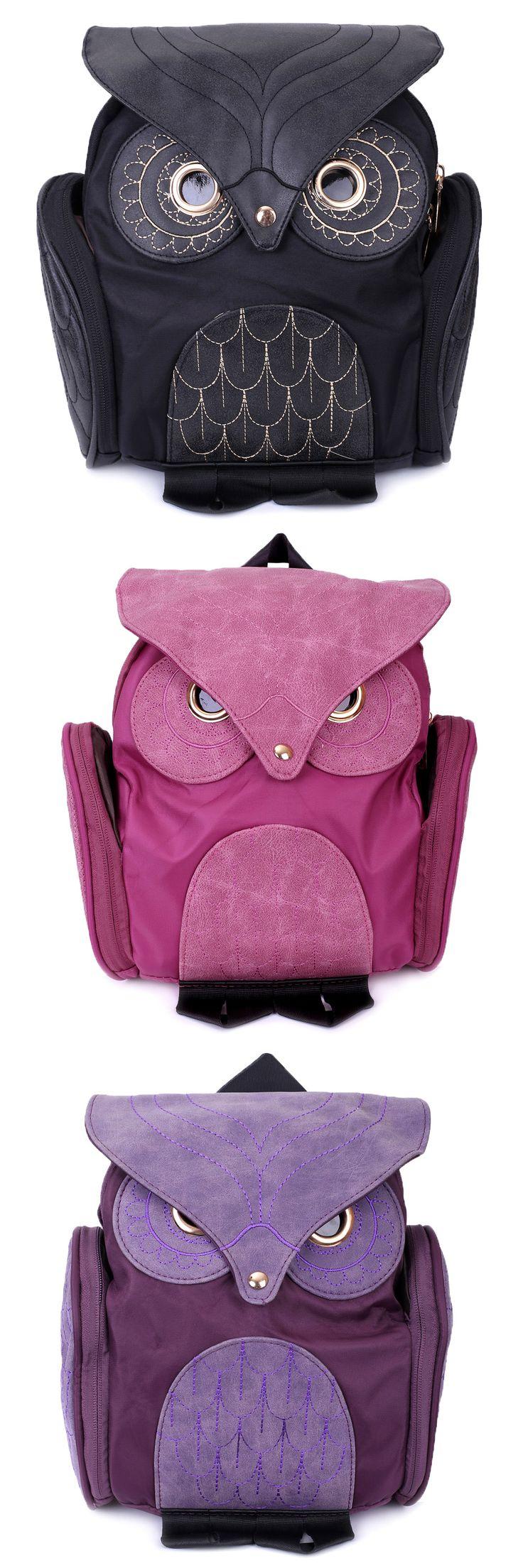 Stylish Owl Shape Solid Color Design Women Shoulder Satchel