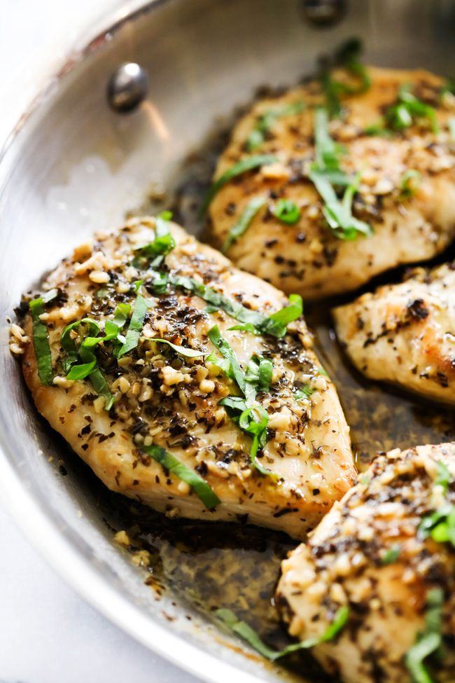 This Skillet Butter Lemon Herb Chicken is loaded with a delicious butter garlic herb flavor and so simple to make. ~ Chef In Training