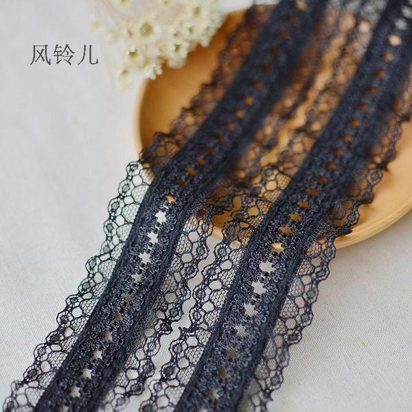 蕾丝边布料弹力花边辅料DIY折褶邹裙摆服装装饰装饰双边