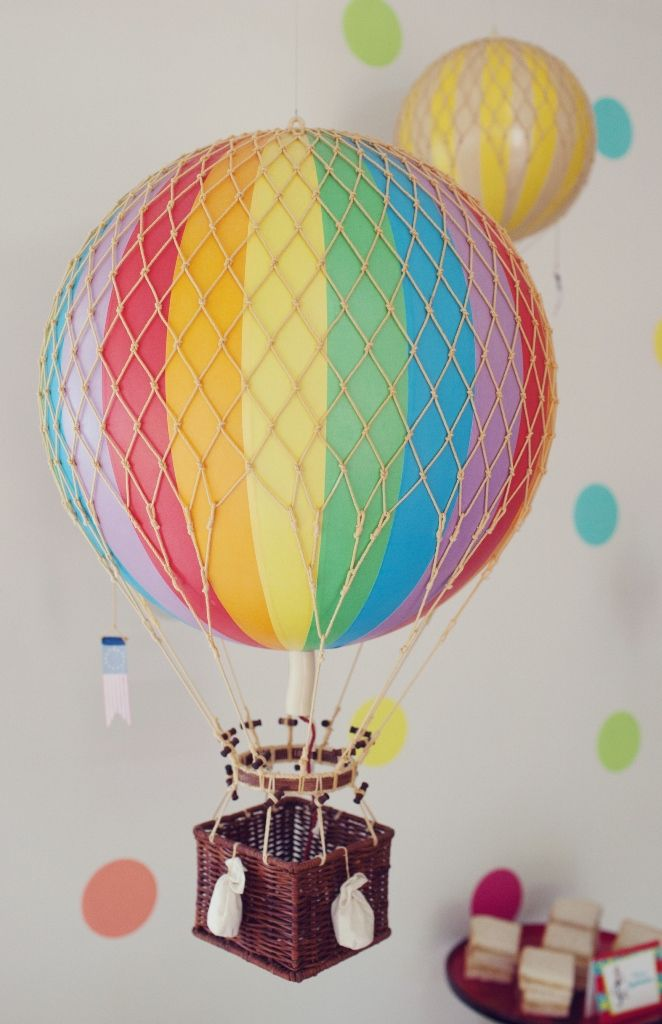 Vintage Hot Air Balloon (Rainbow) – Large | Oliver's Twisty Tales