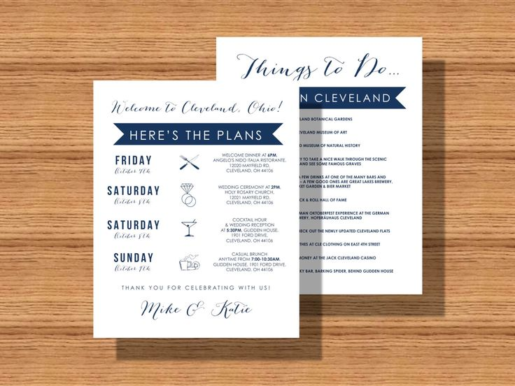 Printable Wedding Schedule Of Events Weddingweekend Itinerary With Welcome Note Weekend Details For Guests