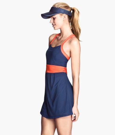 Dark blue tennis dress by H&M. Breathable fabric.