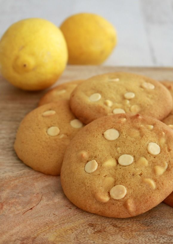 Lemon & White Chocolate Cookies