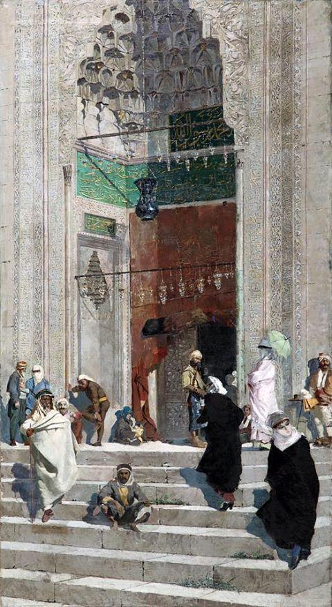 Ressam / Osman Hamdi Bey _ Yeşil camii önü(Green mosque front)