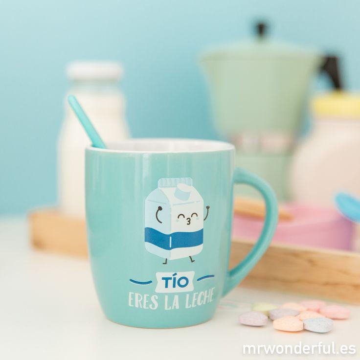 "Taza ""Tío, eres la leche"". Para recordarle a tu tío que, con él, te lo pasas genial #mrwonderfulshop #mug"
