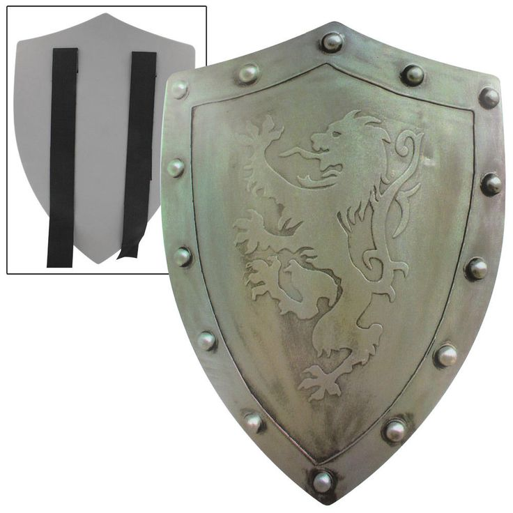 Rampant Lion Bravery Medieval Battle Foam Costume Pretend Play Shield #Unbranded