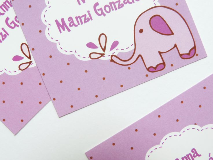 """Tarjetas personales """"Elefante Morado"""""""