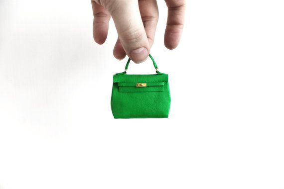 Miniature Hermes kelly Bag by PhillipNuveen on Etsy