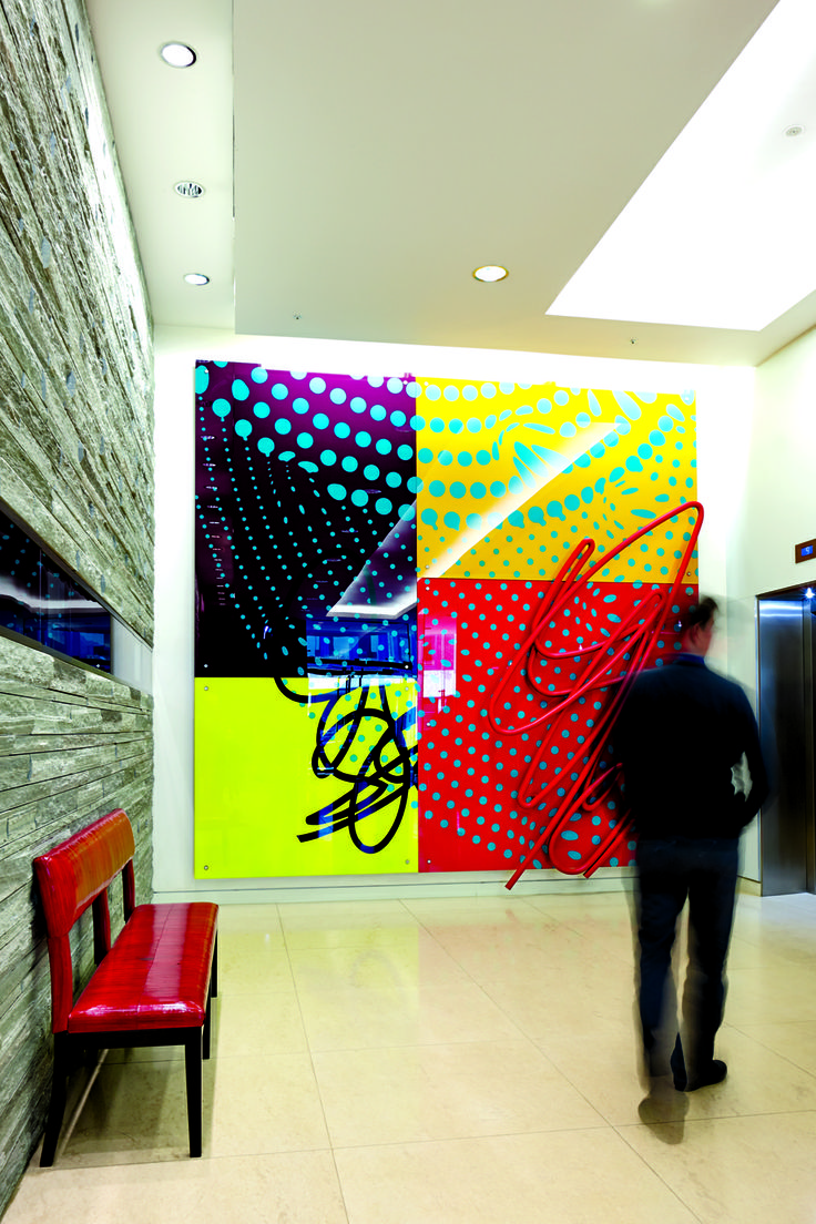 Untitled Collaboration by by Bruce McLean and Alexander Beleschenko - One Hanover Street Foyer #RegentStreet #Art.