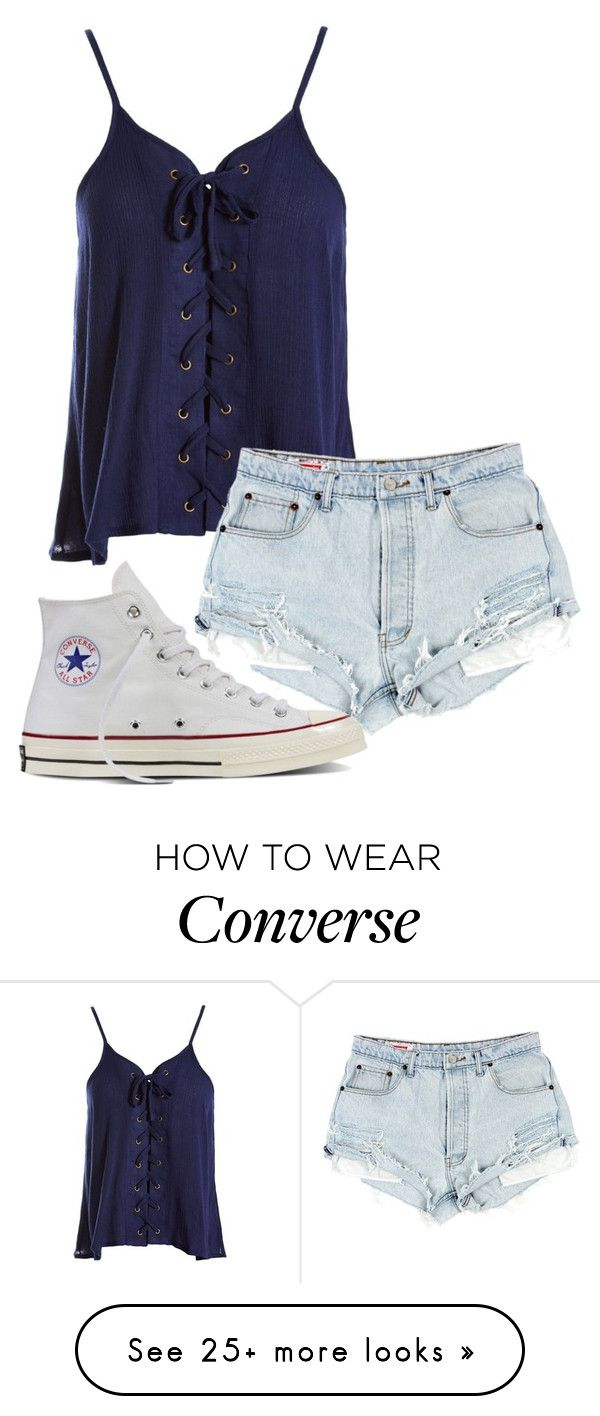 """Untitled #1056"" by astarupthere on Polyvore featuring Sans Souci and Converse"