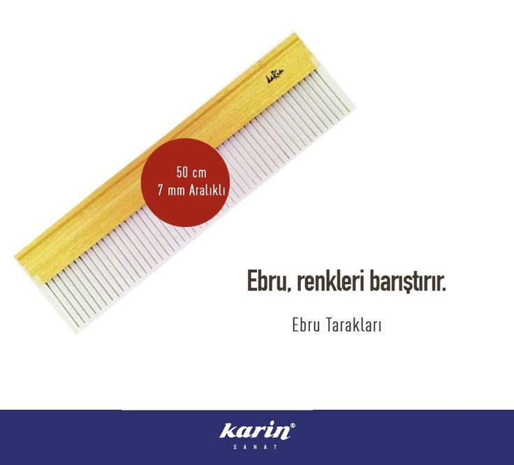 Ebru, renkleri barıştırır. Ebru Tarağı 50cm / 7mm Aralıklı karinsanat.com  #ebru #ebrutarağı #fineart #art