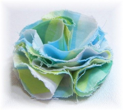 How To Make A Fabric Flower Version 2