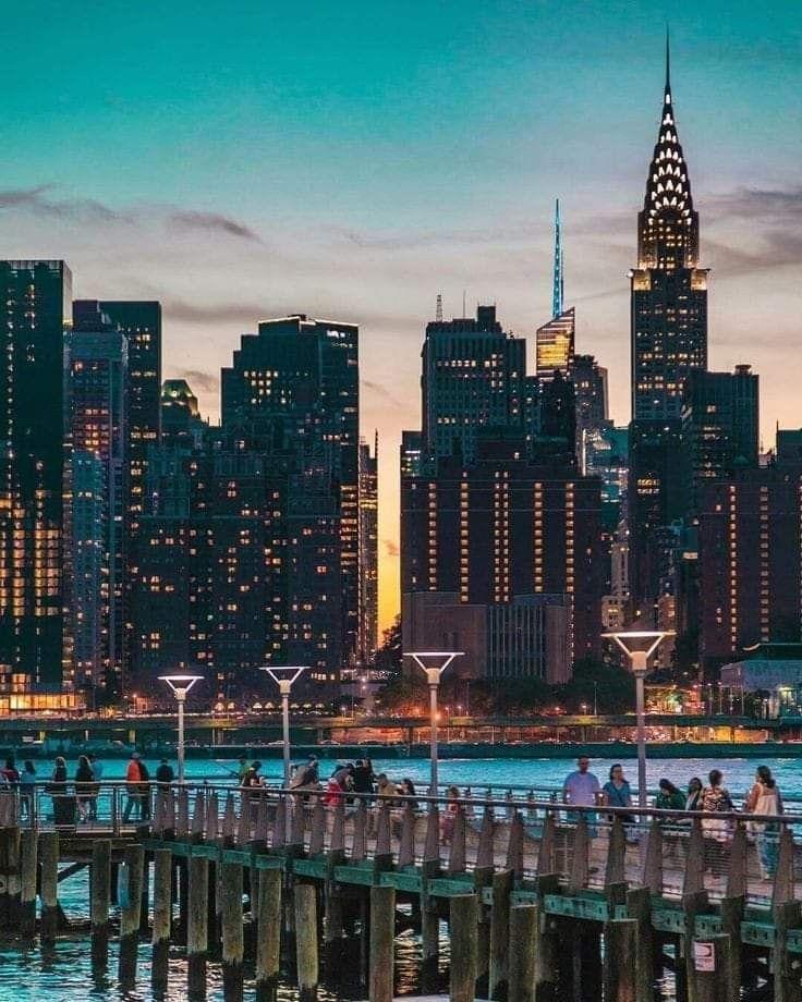 New York City Night Time Ny City New York City Midtown Manhattan