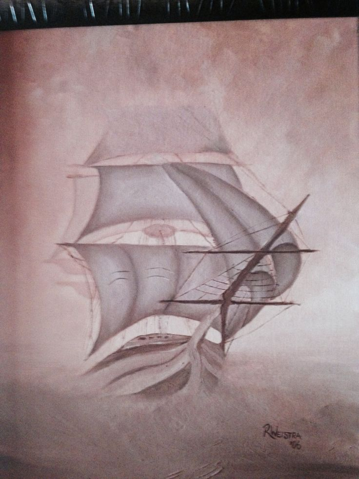 Ship in fog.