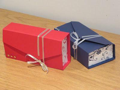 CraftyCarolineCreates: Clutch Bag Gift Box Tutorial, Using Flowering Flourishes by Stampin' Up