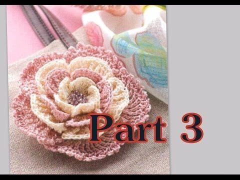 ▶ Вязание крючком для начинающих Как связать Цветок 3 часть - YouTube