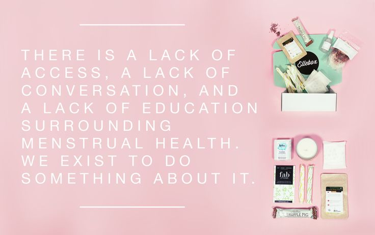 Access, education and conversation about menstrual health.