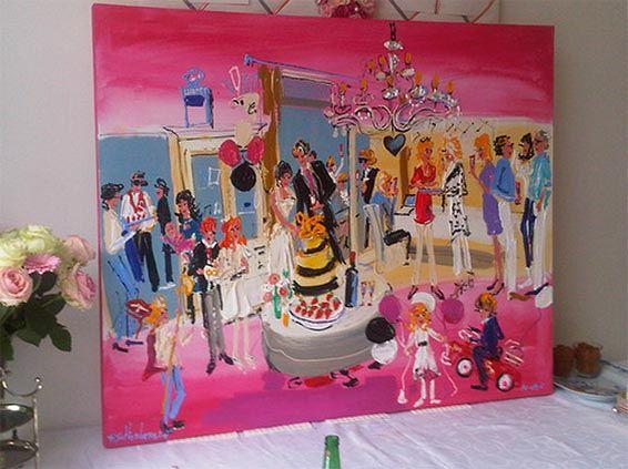 ijzondere momenten in je leven wil je vastleggen; zo simpel is het. En dan niet alleen in de grijze massa, maar ook graag op een stel bloedmooie foto's, zodat je ook een tastbare herinnering hebt aan je bruiloft. Maar heb je er weleens aan gedacht om je bruiloft vast te laten leggen op schildersdoek? Wij niet! En toch kan het, dankzij Ferdinand Schöhnberger. http://www.feestinverve.nl/