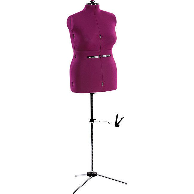 The Dritz My Double dress form gives professional results at home. This dress form features a sturdy folding tripod base.