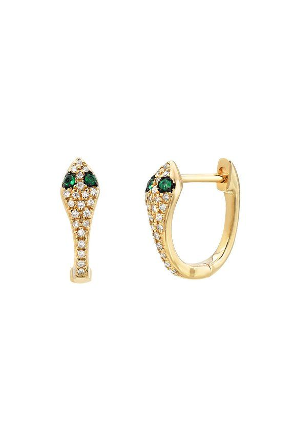 Diamond Snake Huggie Earrings in 2019  c17c5489b067