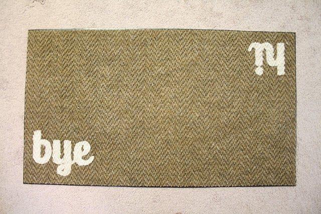 very simple, very cute DIY welcome mat!