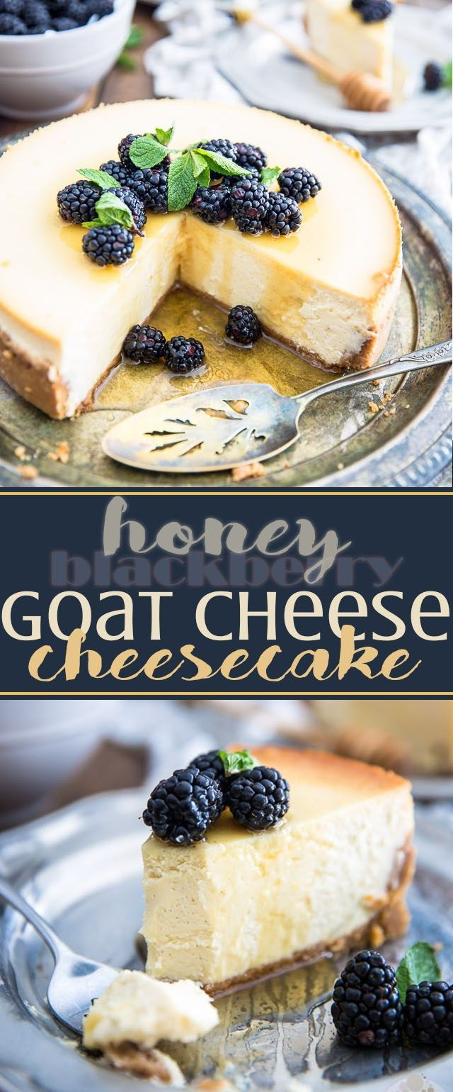 Intriguing to say the least, the flavor combination of this Honey Goat Cheese Cheesecake is nothing short of spectacular. Will you dare give it a try?