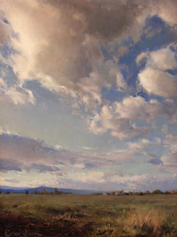 """Addison Skies"", 36"" x 48"". By T J Cunningham (oil on linen)                                                                                                                                                                                 More"