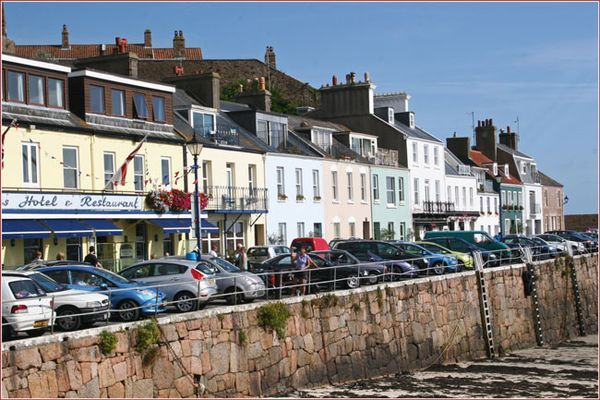 Harbourfront in Gorey, a fishing village on the Channel Island of Jersey  |  Cooksister.com