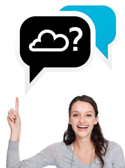 http://www.autecno.com soluciones en la nube, cloud computing, aplicaciones web, teletrabajo, mujer apuntando, soluciones digitales, sistemas digitales, convergencia digital