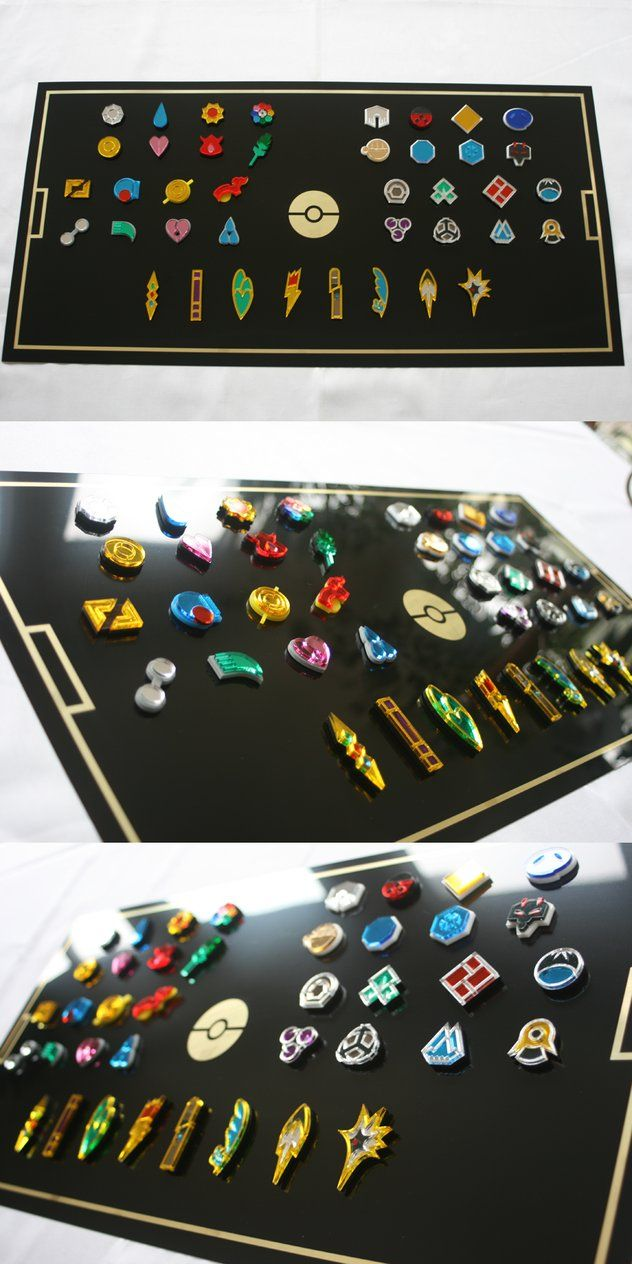 Pokemon Gym Badges Collection by blazerdesigns on DeviantArt blazerdesigns.deviantart.com