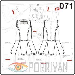 Выкройка сарафана с юбкой с клиньями годе построена для самых маленьких девочек. По возрасту подходит для малышей примерно от 1 года до 4 лет. Выкройка про