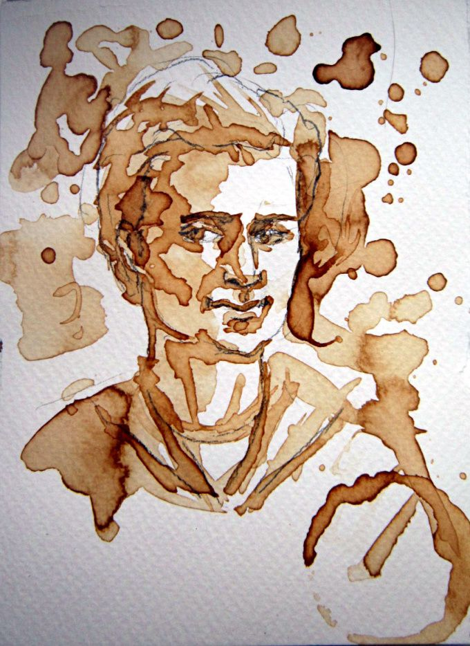 Portraits painted with coffee! You can have yours from fiverr