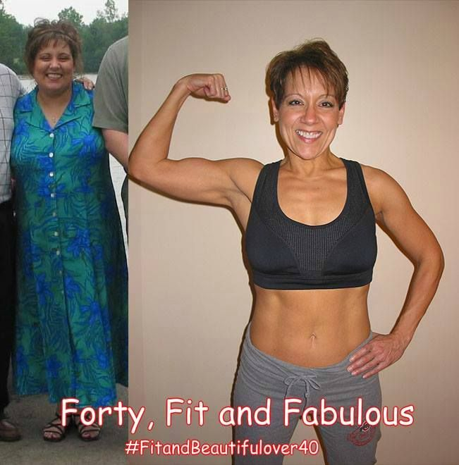 """""""Another Forty, Fit and Fabulous"""" In her thirties, Laurie Campbell was put on medication that resulted in her gaining over 50 lbs. As she entered her forties, she realized enough was enough. She weaned herself off the medication and started with a healthy diet and walking. She moved on to at home workouts, and now, at 46, with strength/weight training, she looks and feels better than ever. It's never too late!"""